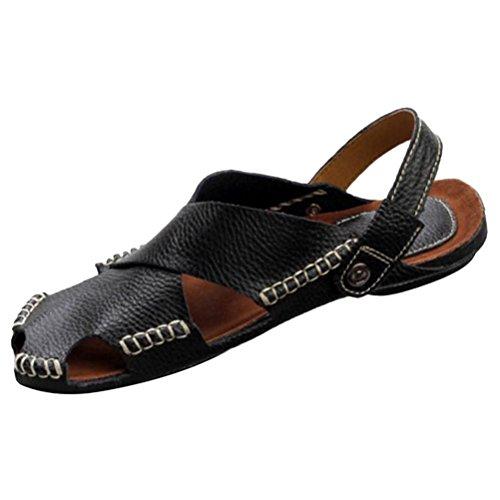 Uomo Nero Pantofole Sandali Sandali Estivi Casa Mallimoda Casual Spiaggia 4q7nw