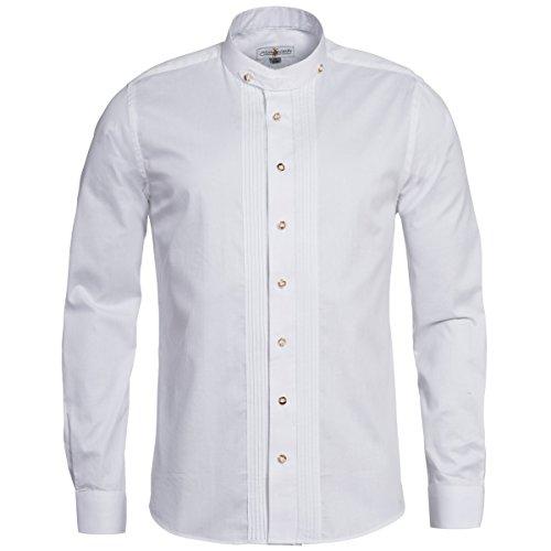 Trachtenhemd mit Biesen in weiß von Almsach, Größe:L;Farbe:Weiß