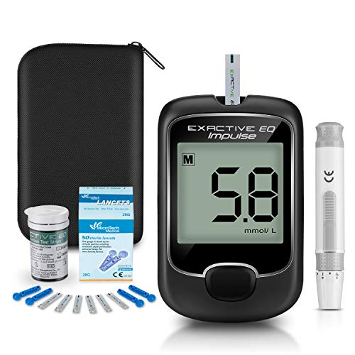 Blood Glucose Monitor Meter, Diabetes Testing Kit [2020 Upgrade] Blood Sugar Tester with 25 Codefree Test Strips and 50…