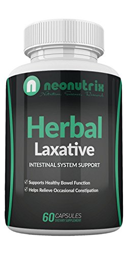 Natural Laxative for Constipation Relief & Healthy Bowel Movement - Colon Cleanse & Detox Herbal Dietary Supplement- Herbal Laxative - Men & Women- 60 Capsules - by Neonutrix - Made in USA