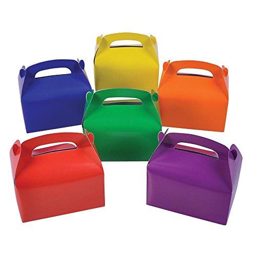 2 Dozen Cardboard Bright Colors Treat Boxes (Party Treat Boxes)