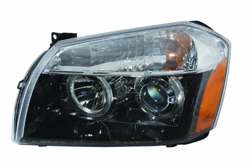 Depo M34-1101P-AS2 Dodge Magnum Black Halogen Type Headlight Projector Assembly Without LED