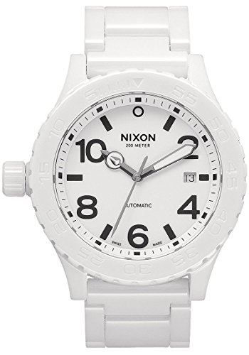 Nixon Men's A148-126 Ceramic 42-20 Automatic White Dial Bracelet Watch