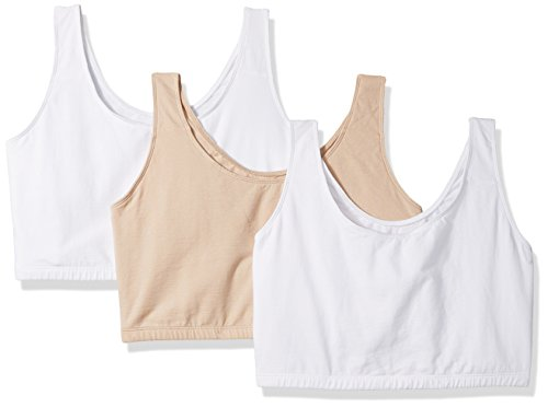 Fruit of the Loom Women's Built-up Sports Bra 3 Pack