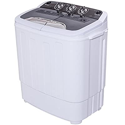 Giantex Portable Compact 12 Lbs Mini Twin Tub Washing Machine Washer Spin Dryer