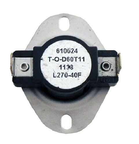 Universal Furnace Stove Dryer High Limit Thermostat Disk Switch L270 610021