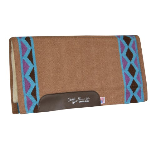 Charmayne James by Professionals Choice 29X31 Equine Smx Air-Ride Barrel Electra Saddle Pad (Tan/Turquoise)