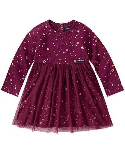 Calvin Klein Baby Girls Dress, Wine, 18M