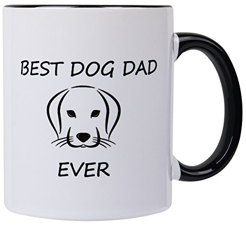 Best dog dad ever,dog lovers gifts for men Pet Owner Rescue Gift, 11 OZ Coffee (Pet Lovers Mug)