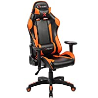 KERLAND Ergonomic Computer Gaming Chair with Adjustable Armrest and Backrest High Back Racing Style Executive Swivel Leather Office Chair With Lumbar Support and Headrest (Orange)