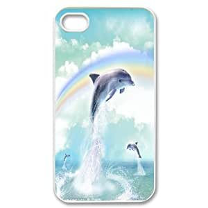 Cheap Dolphins at oceans Case Cover Best For Iphone 4 4S case cover FBGH-T493244
