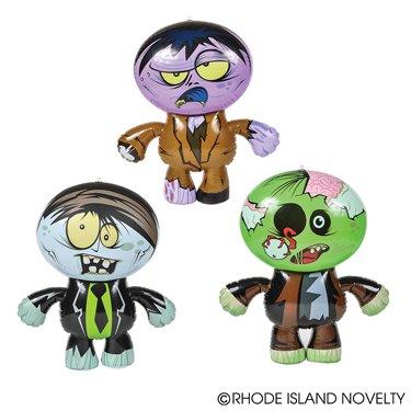 1 Dozen Crazy Inflatable Zombies  Party Decor/Favor/Giveaway