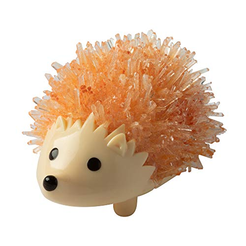 Fat Brain Toys Crystal Growing Hedgehog - Orange Maker & DIY Kits for Ages 10 to 12