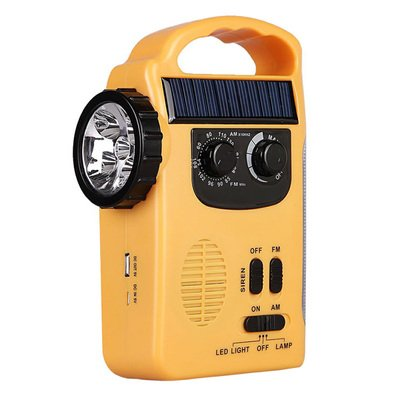 Emergency Weather Flashlight Solar Hand Crank Mobile Charger(Mobile Power) AM/FM SW/NOAA Weather Alert Radio Radio LED Lighting for Travel, Outdoor, Home, Camping by Outdoor's Sky