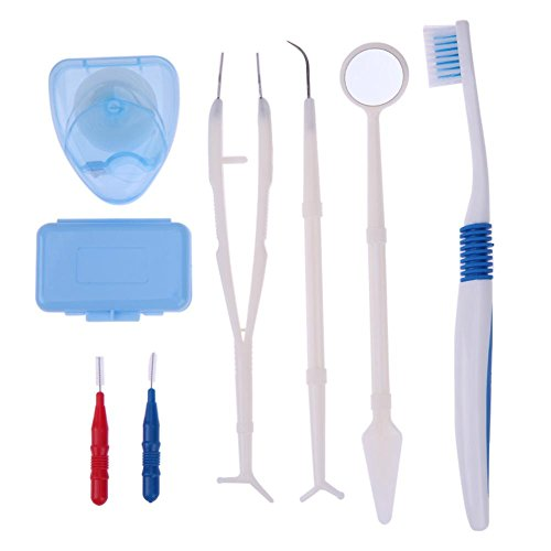 Price comparison product image Vipeco Professional Orthodontic Toothbrush Floss Brace Protect Wax Oral Care Kit