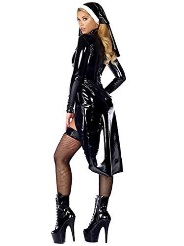Cosplay Fte De L quipement Scne Sexy Costume Costume De Nun Black Halloween Noir De M XL XXL Swdzf8Sq