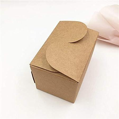 Caja de papel kraft natural para tartas, 30 unidades, sin logotipo, caja de embalaje de regalo, para galletas, caramelos, nueces, caja de embalaje, 90 x 60 x 60 mm: Amazon.es: Hogar