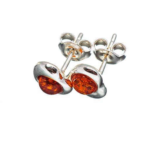 - Genuine Baltic Amber Heart Earrings 3/8
