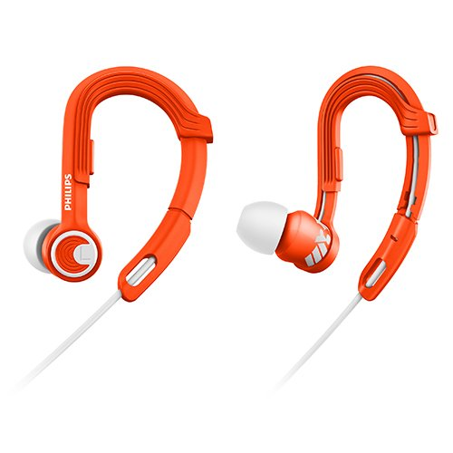 Philips SHQ3300OR/27 Action Fit Sports Headphones, Orange