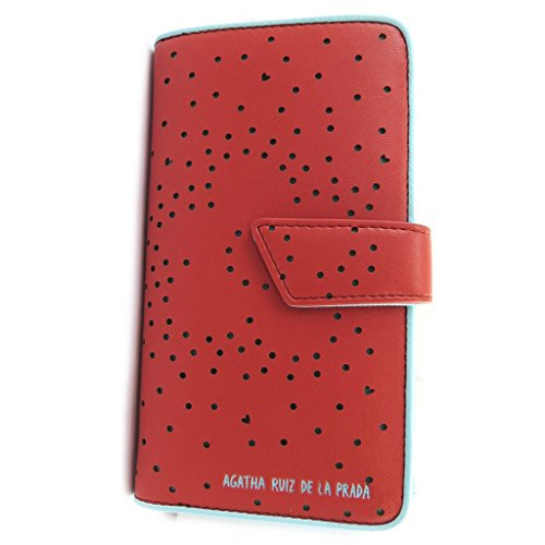 Wallet 'Agatha Ruiz De La Prada'red - perforated hearts (l).