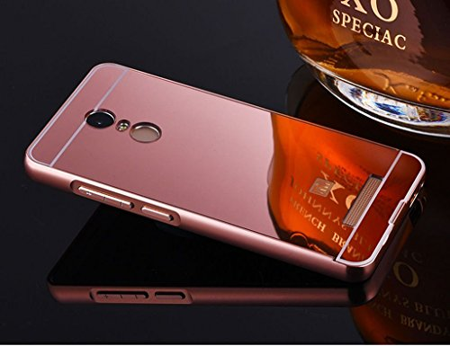 brand new 9b905 19294 Mobile Mart Mirror Back Cover Case for Xiaomi Redmi Note 3- Rose Gold