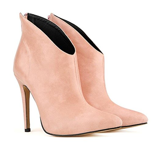 Boots Boots Pink Women'S Pointed High YC L Fine Short Heels Pointed With BwY4gvq