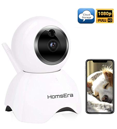 [Clearance SALE] Upgraded 2019 - HomsEra 1080P Full HD 2MP Wireless Pet/Dog/Baby/Home Security Camera MotionDetection, 2 WayAudio, NightVision, Pan/Tilt/Zoom, CLOUD Storage IOS/Android/WindowsPC App