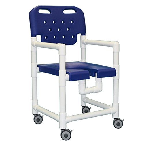 Shower Access Chair - IPU ELT817 Elite Rolling Shower Chair for use over Toilet and in the Shower