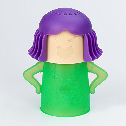 New Metro Angry Mama Microwave Cleaner Steam Cleans 50s Era Mom plastic (Green) (50s Makeup And Hair)