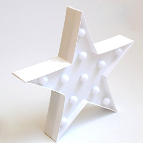 レッドフラミンゴ装飾LEDライト、amzstar Valentine Romance Atmosphereライト、パーティーウェディング誕生日パーティー装飾Kids ' Room電池式LED夜間ライト ホワイト AMZSTAR B06XDFPHDD 12575 Star-white Starwhite