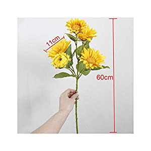 5 Sunflower Artificial Flower Home Wedding Party Garden Decoration Fake Flower Autumn Sunflower,A 28