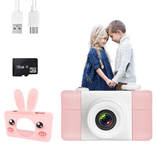 Darhoo Kids Camera,【16GB Memory Card Include】 Digital Camera for Kids,Rechargeable 1080P HD Video Child Camera for Boys & Girls Age 3-12