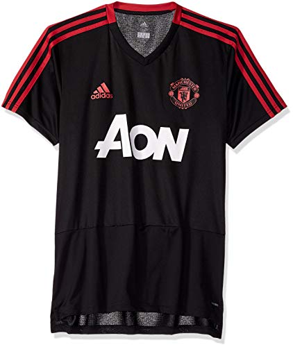 World Cup Soccer Manchester United Men's Soccer Training Jersey, Black, Large
