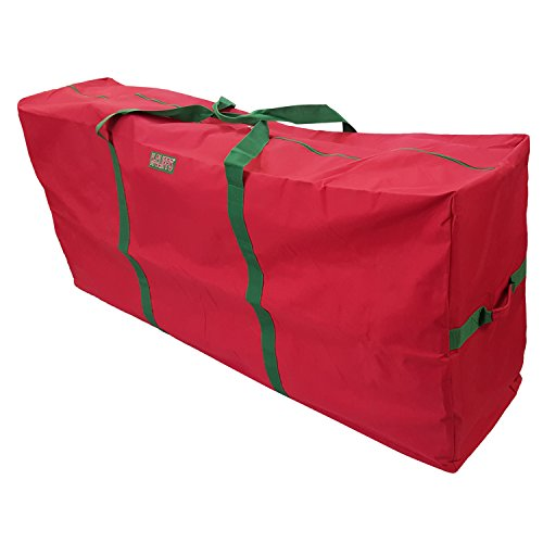 "K-Cliffs Heavy Duty Christmas Tree Storage Bag Fit upto 9 Foot Artificial Tree Holiday Red Extra Large Dimensions 65″ x 30"" x 15″ By Praise Start"