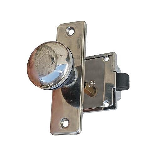 Marine Flush Latch Knob Lock Set for Door - Boat Caravan Rv - Five Oceans BC-1409  sc 1 st  Amazon.com & Boat Door Latches: Amazon.com
