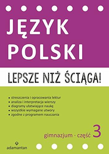 Lepsze Niz Sciaga Jezyk Polski Gimnazjum Czesc3 Amazones