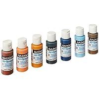 Badger Air-Brush Company - Pintura acrílica a base de agua lista para aerografía, opaca con aerógrafo, 1 onza cada una, set de 7