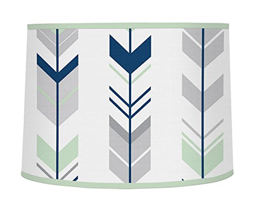 Sweet Jojo Designs Grey, Navy and Mint Woodland Arrow Boy or Girl Baby Childrens Lamp Shade