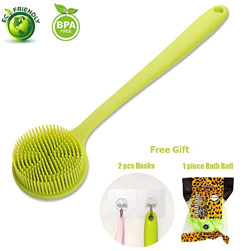 Bath Brush with Long Handle Silicone Shower Bath Body Brush Long Reach Back Brush - Reach Brush Long