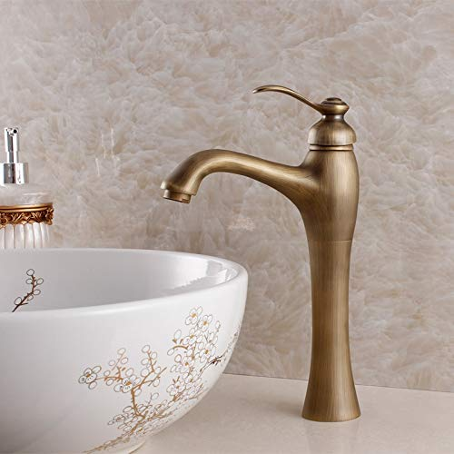 New Design Antique Brass Mixer Waterfall Faucet Bathroom Basin Mixer Sink Tap Basin Faucet Vanity Faucets