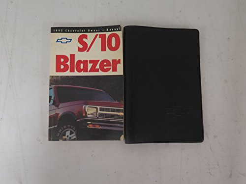 1992 Chevrolet S-10 Blazer owners manual