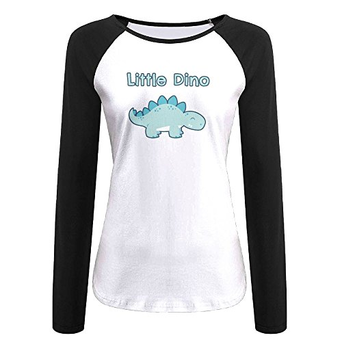 e1f40a324130 Jidfnjg Little Dino Casual Shirt Letter Print in Shirt Perfect Cute Girl  Long Sleeves Black