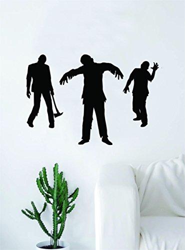 3 Zombies Art Wall Decal Sticker Vinyl Living Room Bedroom Decor Teen Skull Halloween -
