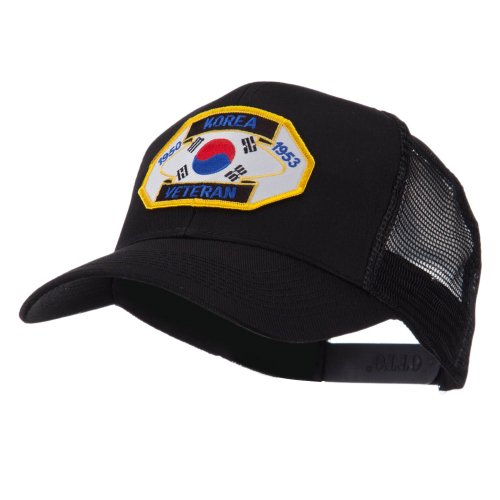 Veteran Embroidered Military Patched Mesh Cap - Korea Veteran OSFM