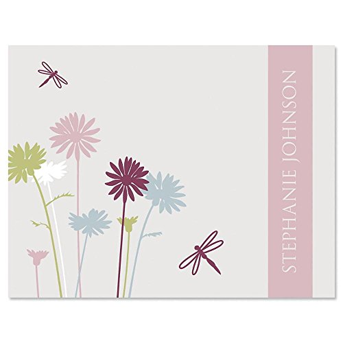 Dragonfly Card Note - Dragonfly Personalized Note Card Set - Set of 24 cards with envelopes