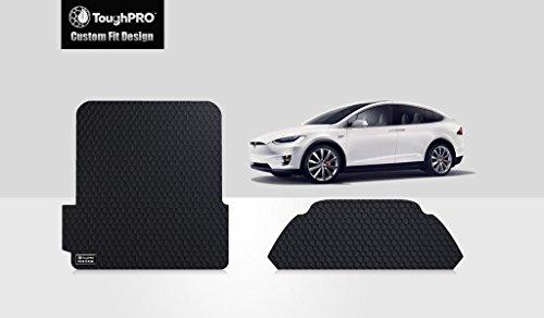 UPC 640843501823, ToughPRO Tesla Model X front Trunk & BackTrunk Mat - 3rd Row Fold Down - All Weather - Heavy Duty- Black Rubber (2016-2017)