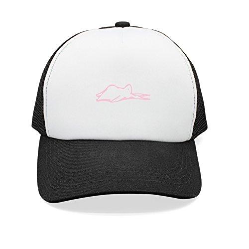 Xanx Smon Mesh Adjustable Cap Rabbit Yoga Pose Corpse Unisex Baseball Cap for Women