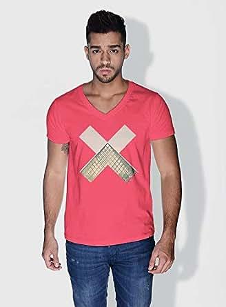Creo Paris Louvre X City Love T-Shirts For Men - Xl, Pink