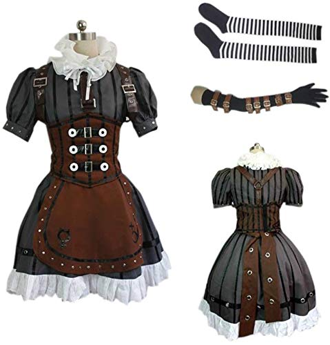 ZYHCOS Women's Alice Steam Maid Dress Halloween Cosplay Costume -