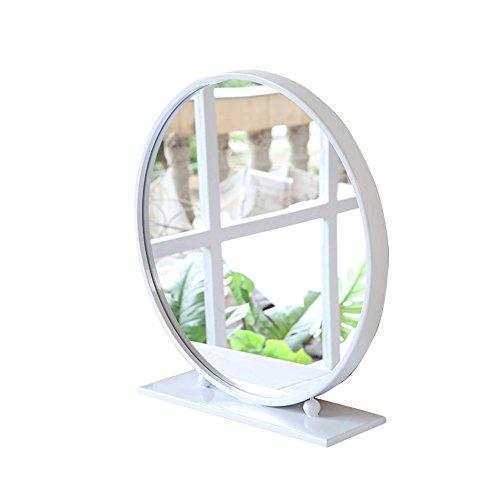 Mirror Desktop Round Bathroom Table Bedroom Oversized 40/50/60/70/80cm (Color : White, Size : 60cm) from Mirror